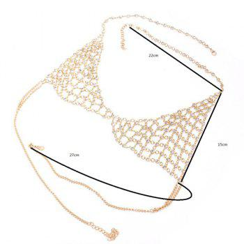 Triangle Rhinestone Hollow Out Bra Body Chain -  GOLDEN