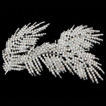 Rhinestone Feather Hairpin