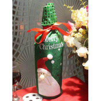 Christmas Party Table Decor Santa Claus Wine Bottle Cover Bag - GREEN GREEN