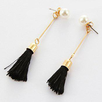 Tassel Faux Pearl Ear Jackets