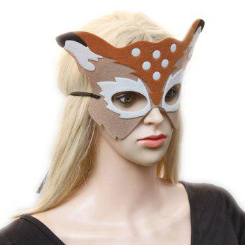 Elk Hollow Out Masquerade Mask - LIGHT KHAKI