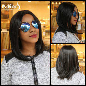 Straight Centre Parting Long Synthetic Capless Wig