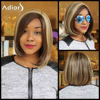 Buy Short Double Color Straight Side Parting Synthetic Capless Wig COLORMIX
