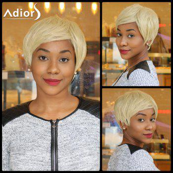 Sparkle Light Blonde Mixed Flaxen Short Capless Straight Synthetic Wig