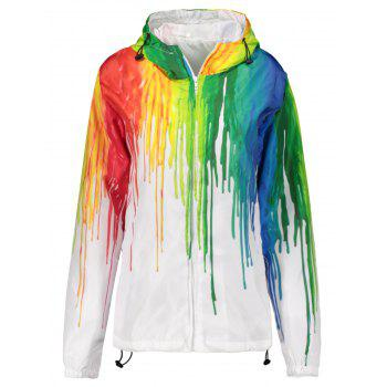 Hooded 3D Splatter Paint Jacket