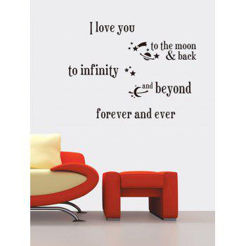 I Love You Proverb Wall Stickers Home Decoration