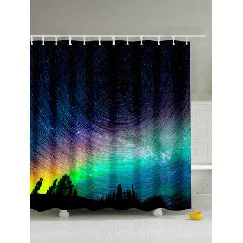 Buy Mildewproof Polyester Waterproof Shower Curtain COLORMIX