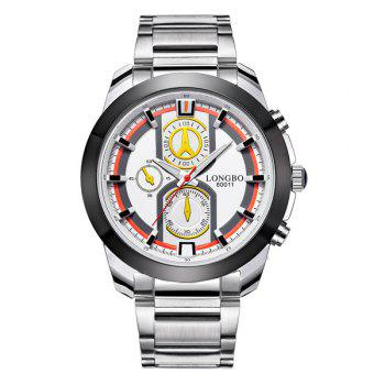 Multifunction Waterproof Metal Quartz Watch