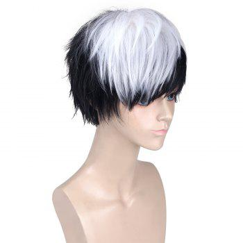 Synthetic Short Side Bang Straight Cosplay Wig