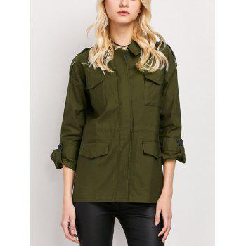 Turndown Collar Field Jacket with Pockets