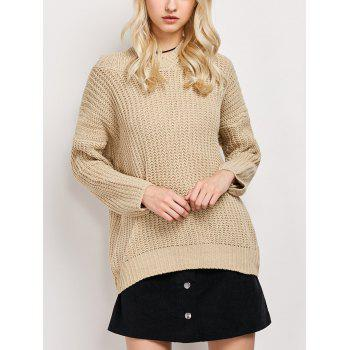 Hooded High Low Tunic Sweater