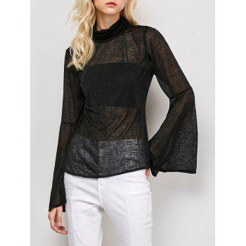 See-Through Flare Sleeve T-Shirt