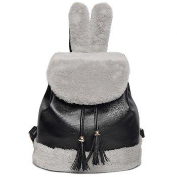 Furry Rabbit Ear Backpack