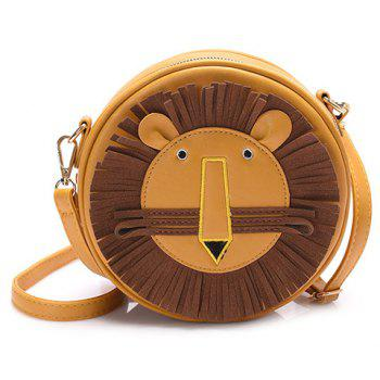 Cartoon Lion Round Shaped Crossbody Bag