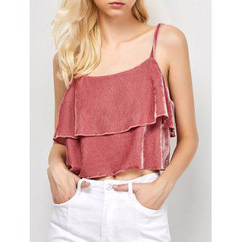 Cropped Velvet Cami Top