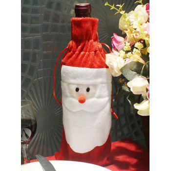 Merry Christmas Table Decor Santa Claus Wine Bottle Cover Bag - RED RED