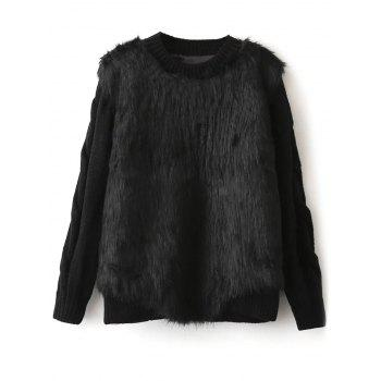Cable Knit Faux Fur Chunky Sweater