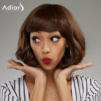 Adiors Shaggy Short Side Bang Wavy Bob Synthetic Wig