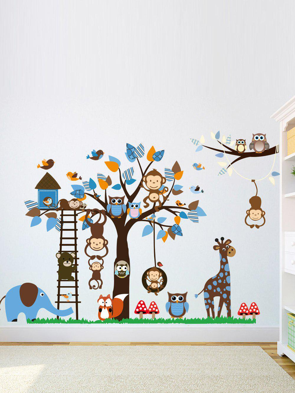 Cartoon Animal Kids Room Removable Wall Stickers