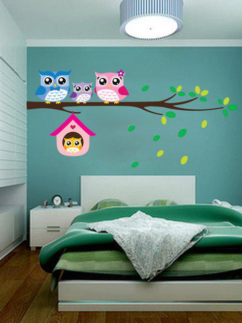 Cartoon Owl Removable Kids Room Decor Wall Stickers