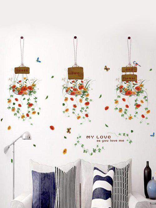 Hanging Flowers Living Room Removable Wall Stickers removable famous proverb design room office wall stickers