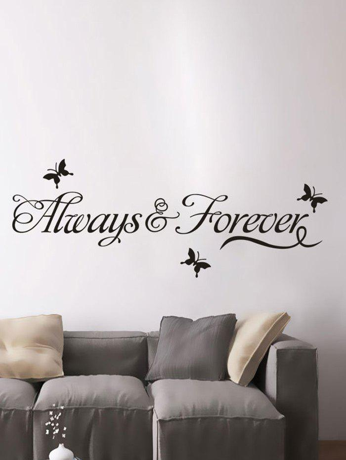 stickers muraux pour d coration maison a motif lettres noir in stickers muraux. Black Bedroom Furniture Sets. Home Design Ideas