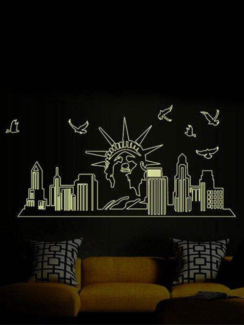 Statue of Liberty Wall Stickers Home DecorationHome<br><br><br>Color: BLACK