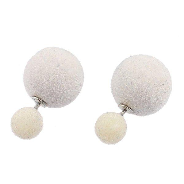 цены Double Fuzzy Ball Candy Color Stud Earrings