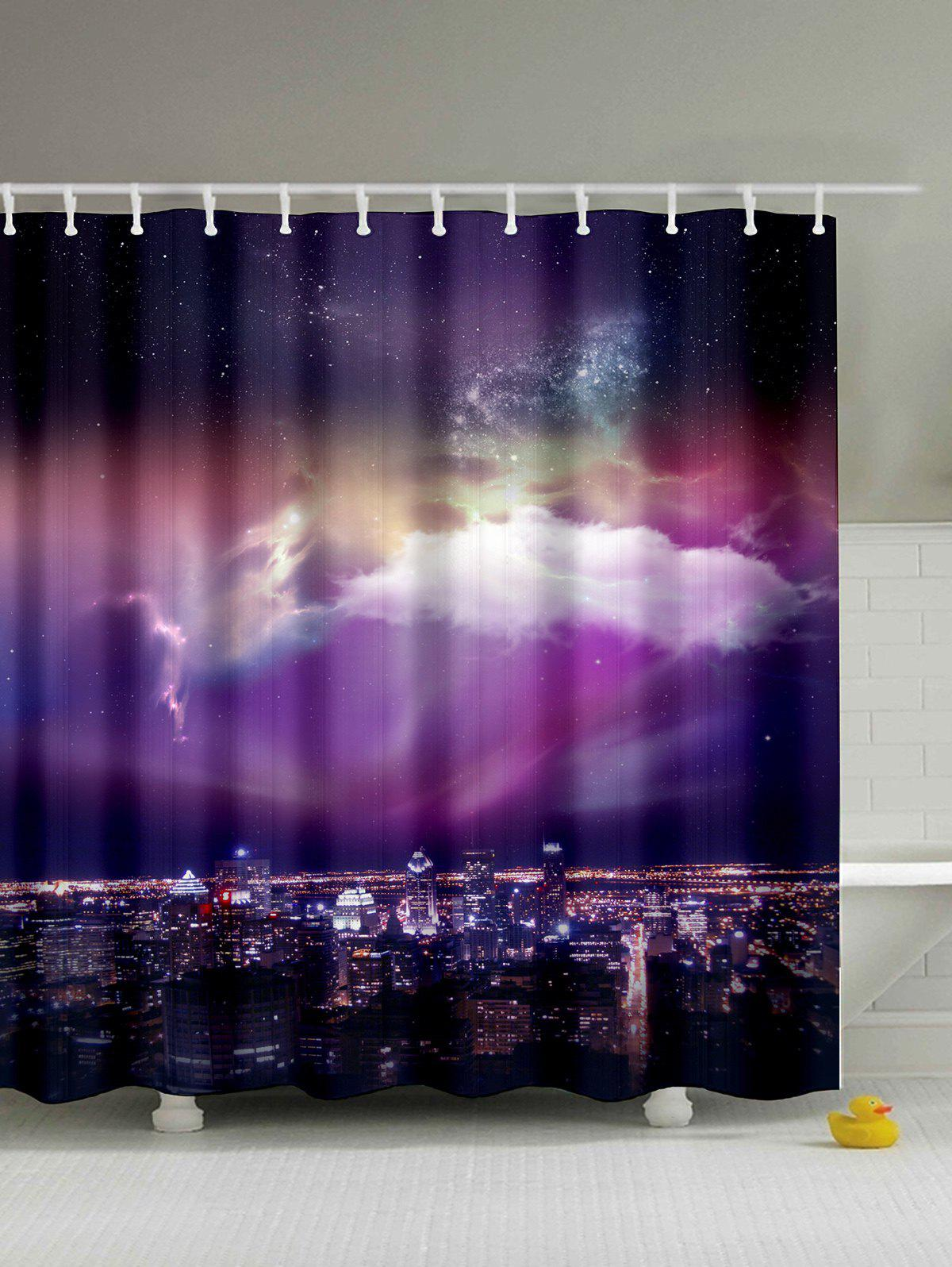 Mew Sky Print Polyester Shower Curtain tokyo mew mew a la mode