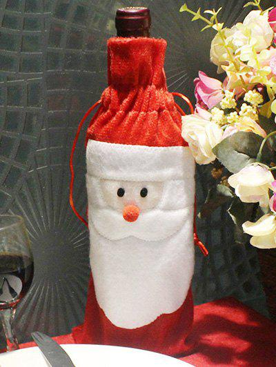 Merry Christmas Table Decor Santa Claus Wine Bottle Cover Bag - RED