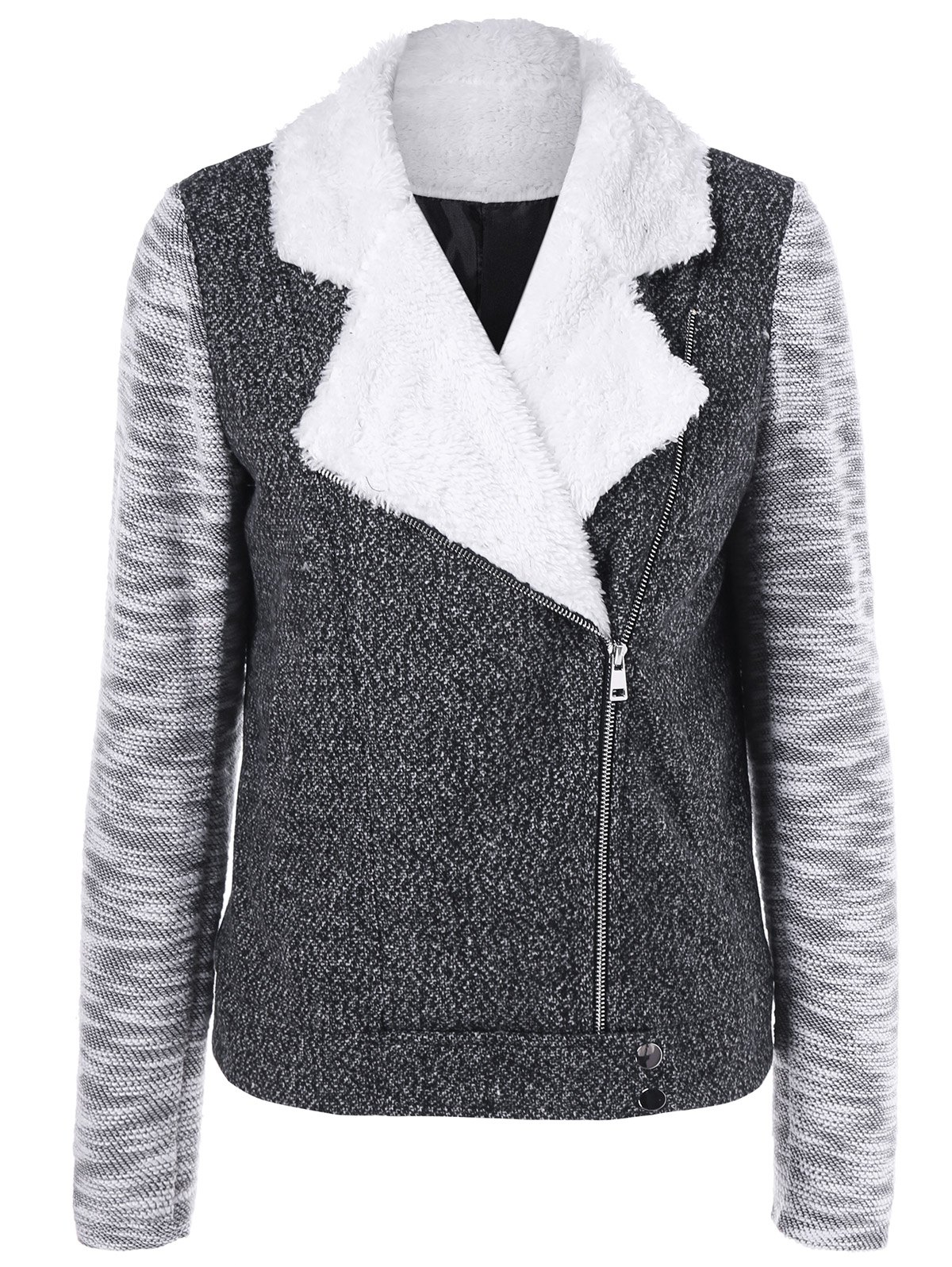 Heather Zip Up JacketWomen<br><br><br>Size: M<br>Color: MOUSE GREY
