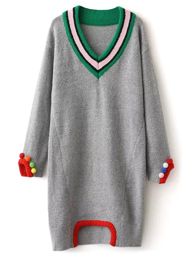 Cricket Fuzzy Sweater Dress - GRAY ONE SIZE