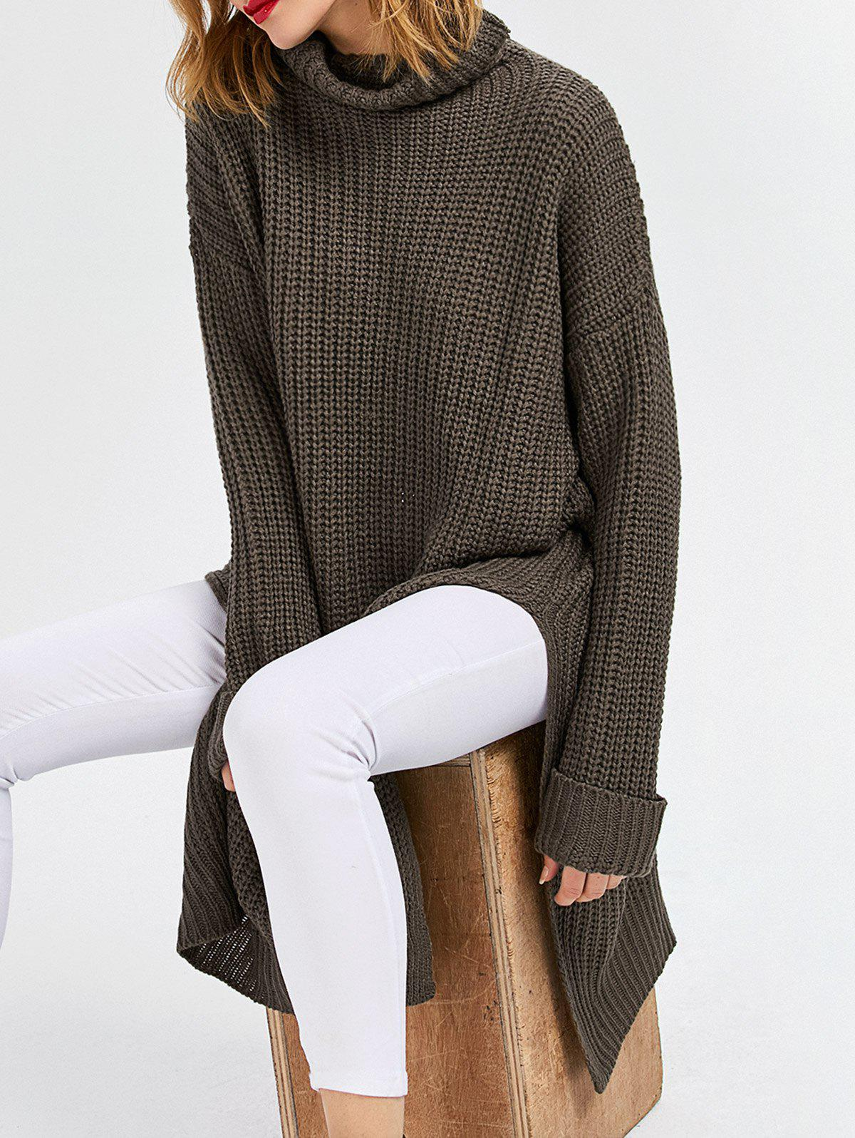 Cowl Neck Slit Ribbed Sweater inc new black women s p petite ribbed cowl neck studded tunic sweater $69 071