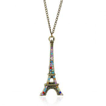 Eiffel Tower Rhinestone Sweater Chain