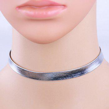 Faux Leather Choker Necklace