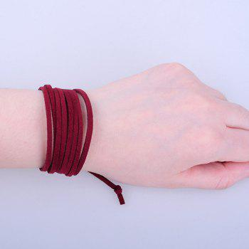 Adjustable Velvet Layered Strand Bracelet