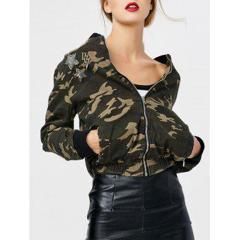 Patchy Camo Jacket