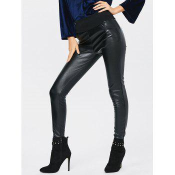 Faux Leather High Waist Cigarette Pants