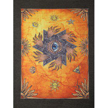 Hebraic Style Sun Printed Rectangle Shape Beach Throw