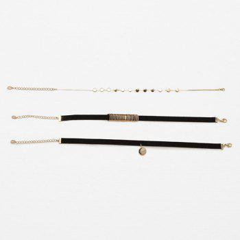 Layered Round Choker Necklaces