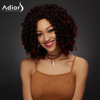 Shaggy Curly Medium Synthetic Wig -  COLORMIX