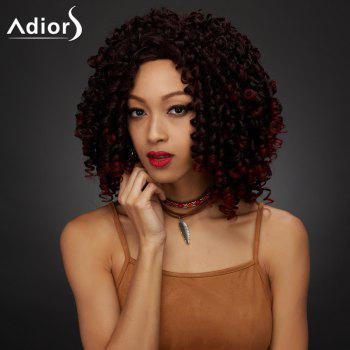 Shaggy Curly Medium Synthetic Wig - COLORMIX COLORMIX