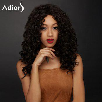 Side Parting Long Shaggy Curly Synthetic Wig - DEEP BROWN DEEP BROWN