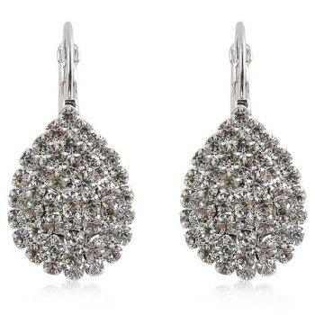Teardrop Rhinestone Embellished Earrings