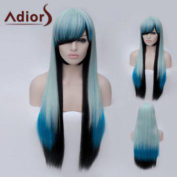 Adiors Side Bang Long Colormix Silky Straight Party Synthetic Wig