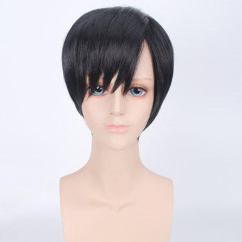Synthetic Short Side Bang Straight Harajuku Cosplay Wig