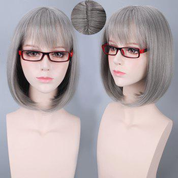 Short Neat Bang Bob Straight Synthetic Cosplay Wig