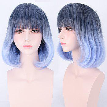 Short Neat Bang Colormix Straight Synthetic Cosplay Wig