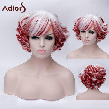Adiors Inclined Bang Short Colormix Curly Party Synthetic Wig