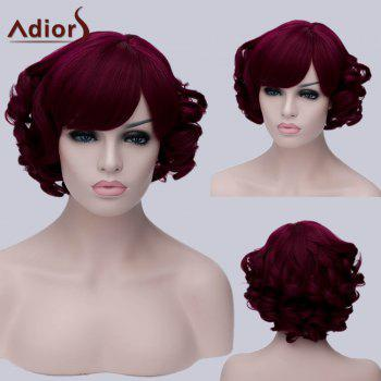 Adiors Inclined Bang Short Curly Party Synthetic Wig